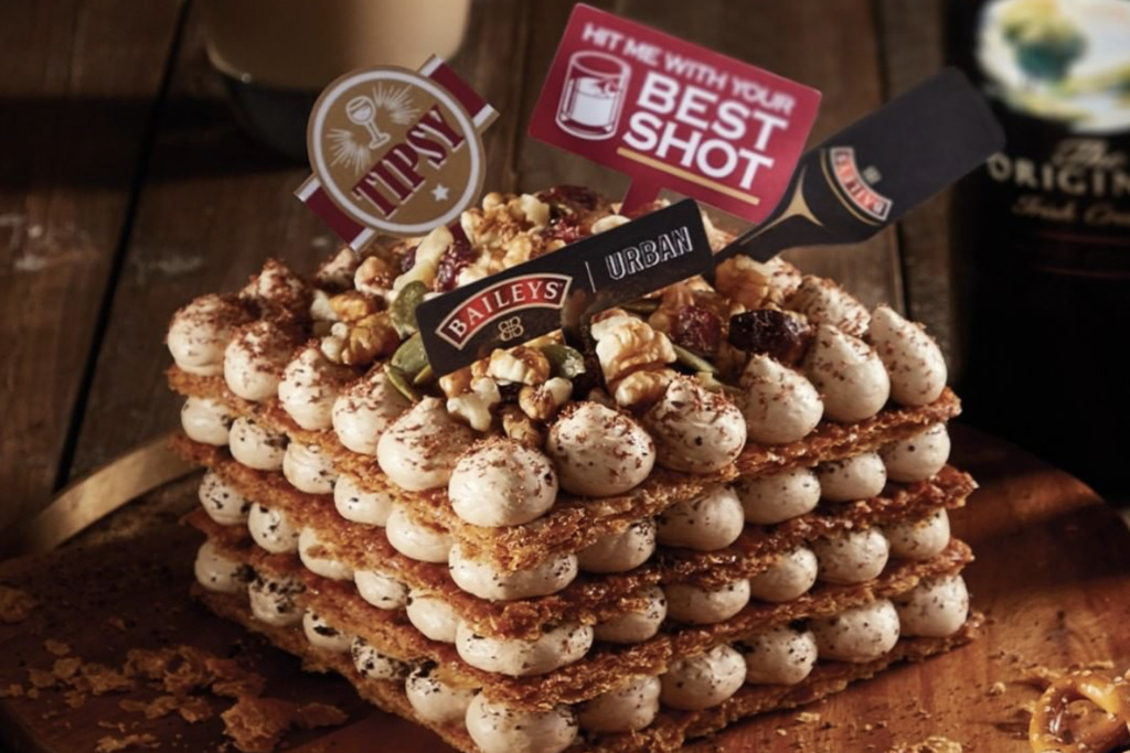 Urban Bakery首度联乘Baileys!推出百利甜酒蛋糕/拿破崙甜品