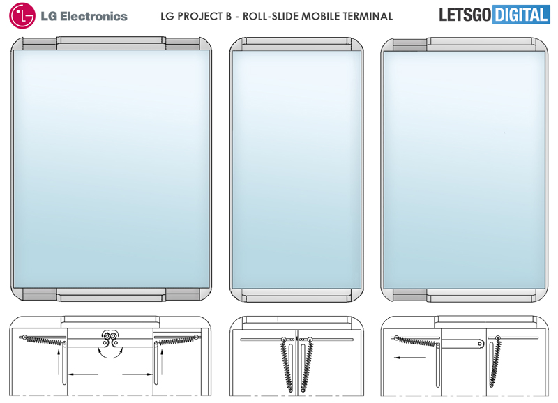 LG's patents for retractable smartphone display surface online