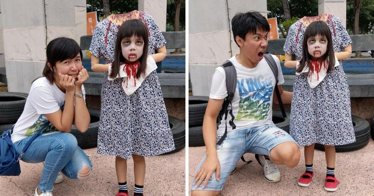 Taiwanese girl's 'headless' Halloween costume goes viral