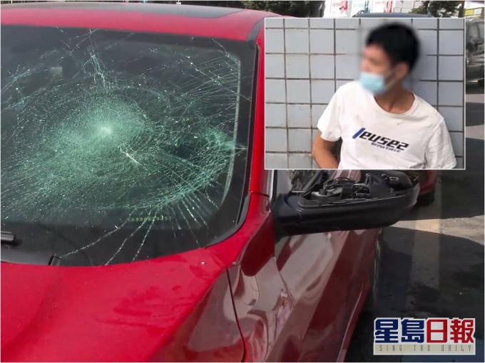 深圳男子因与家人争执 用单车砸18部车洩愤