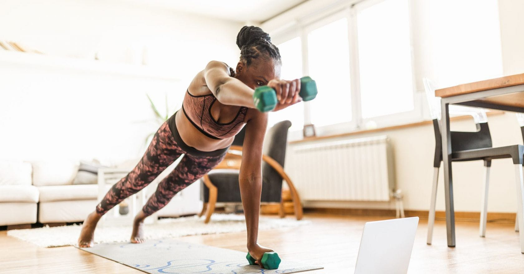 The benefits of strength training with light weights during home workouts