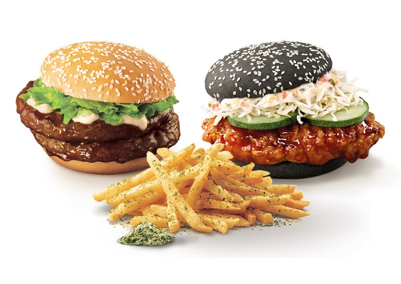 McDonald's Samurai (beef) & Ninja (chicken) burgers are back with seaweed shaker fries