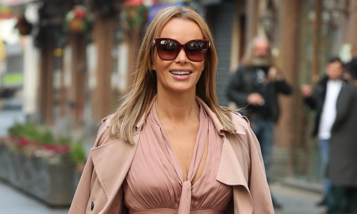 Amanda Holden rocks pastel pink with her flirty satin slip skirt - and we're in love