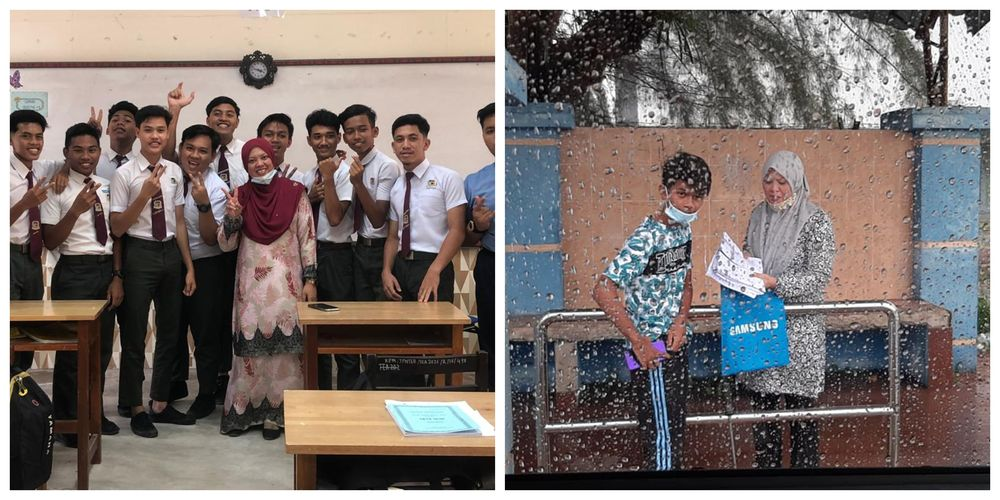 Terengganu teacher goes beyond the extra mile to deliver study modules to her students amidst CMCO
