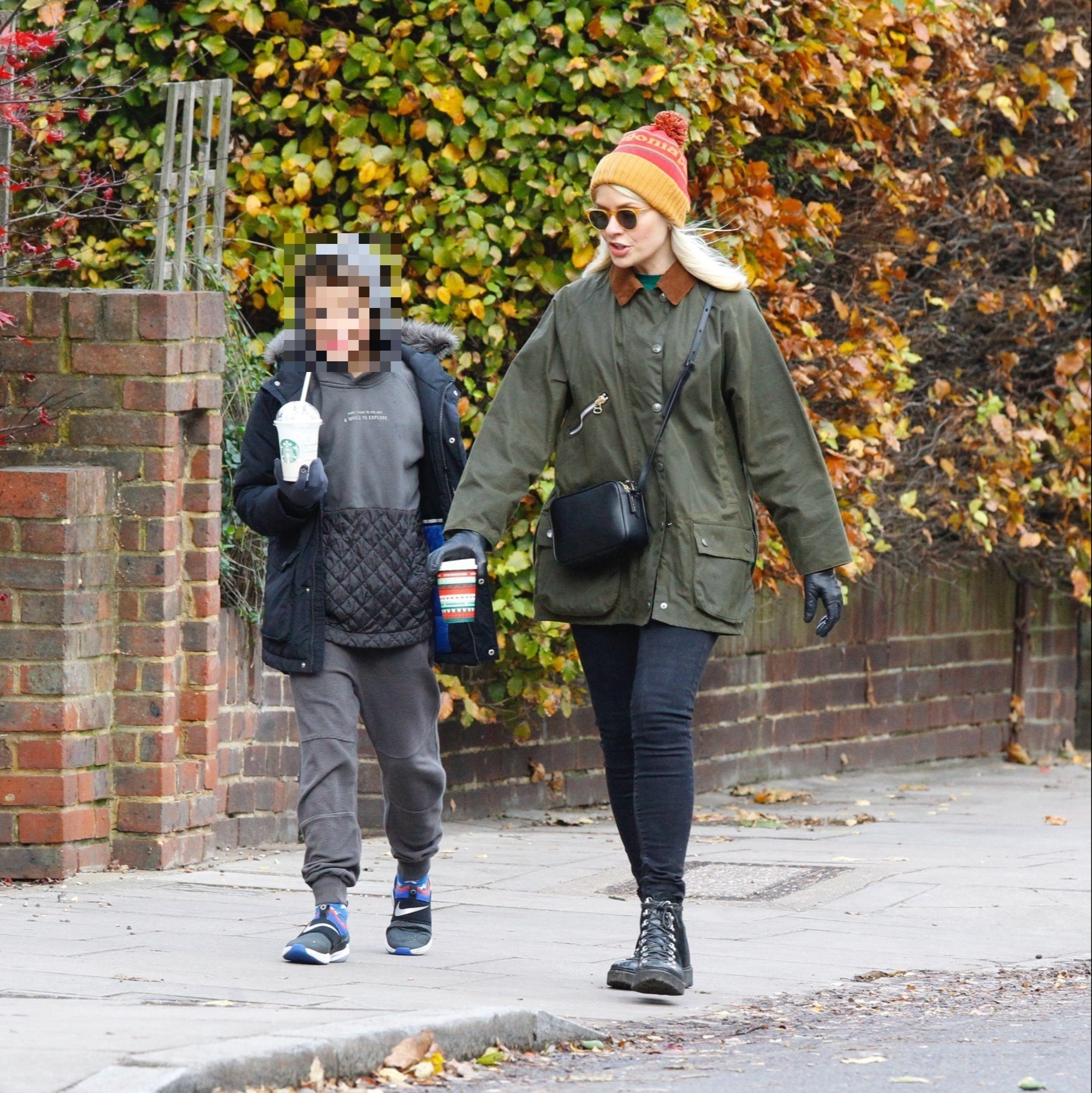 Holly Willoughby heads out with son to grab coffee after missing This Morning due to kids showing Covid-19 symptoms