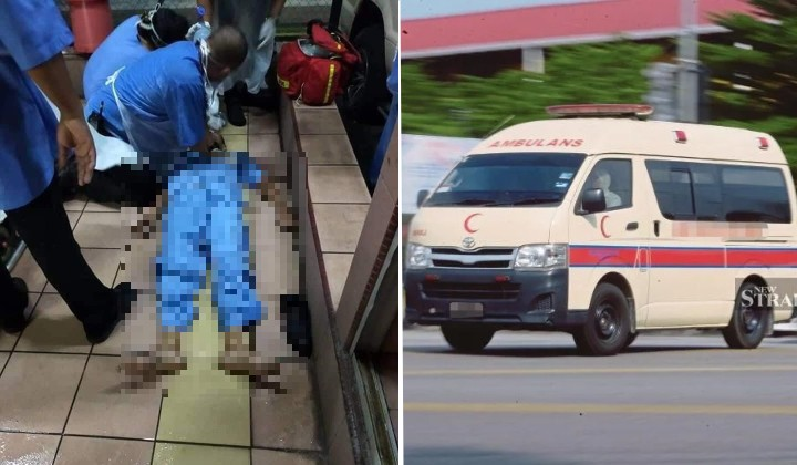 Exhausted Perak Ambulance Driver Collapses & Dies After Transporting Covid-19 Patient