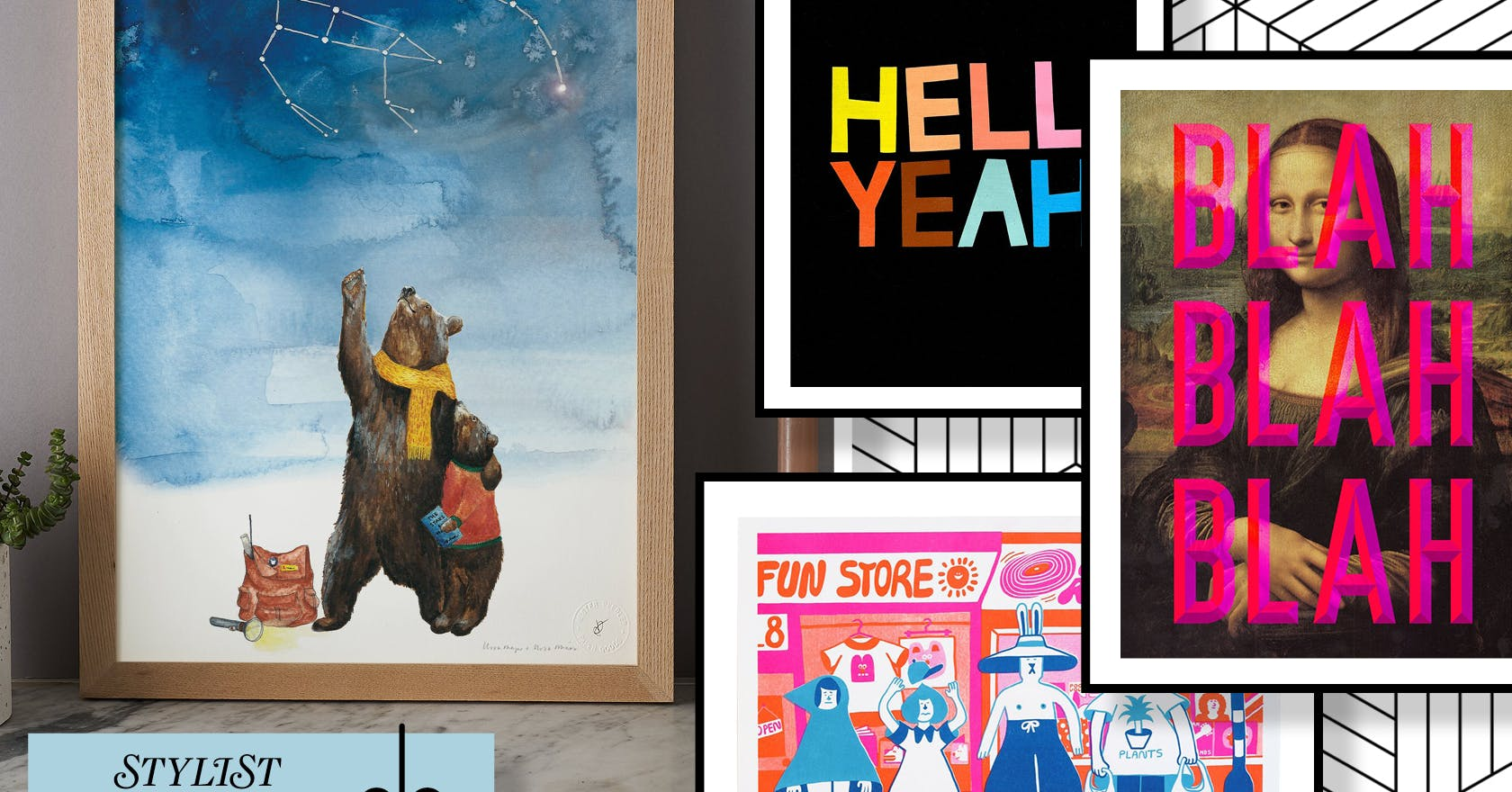 22 beautiful art prints that would make perfect Christmas gifts, to suit all styles and budgets