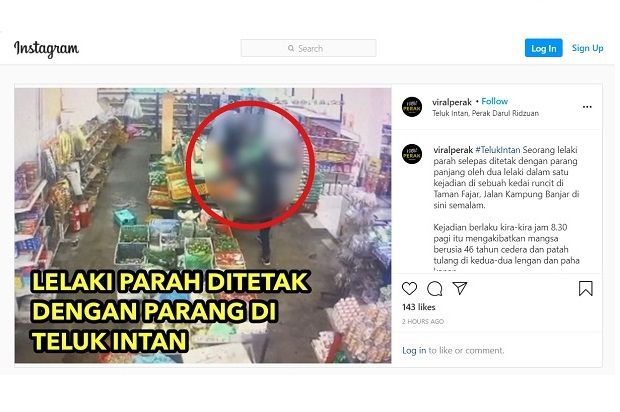 Man slashed by two assailants in Teluk Intan
