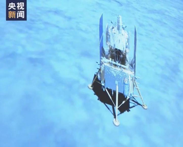 嫦娥五号成功月球正面预选着陆区着陆