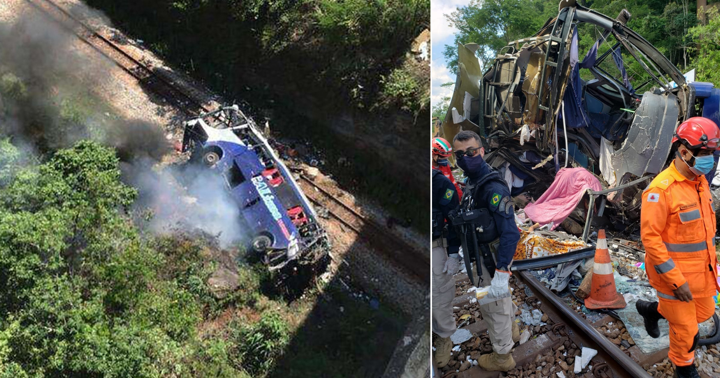 15 dead and 30 injured after tour bus plunges from bridge in Brazil