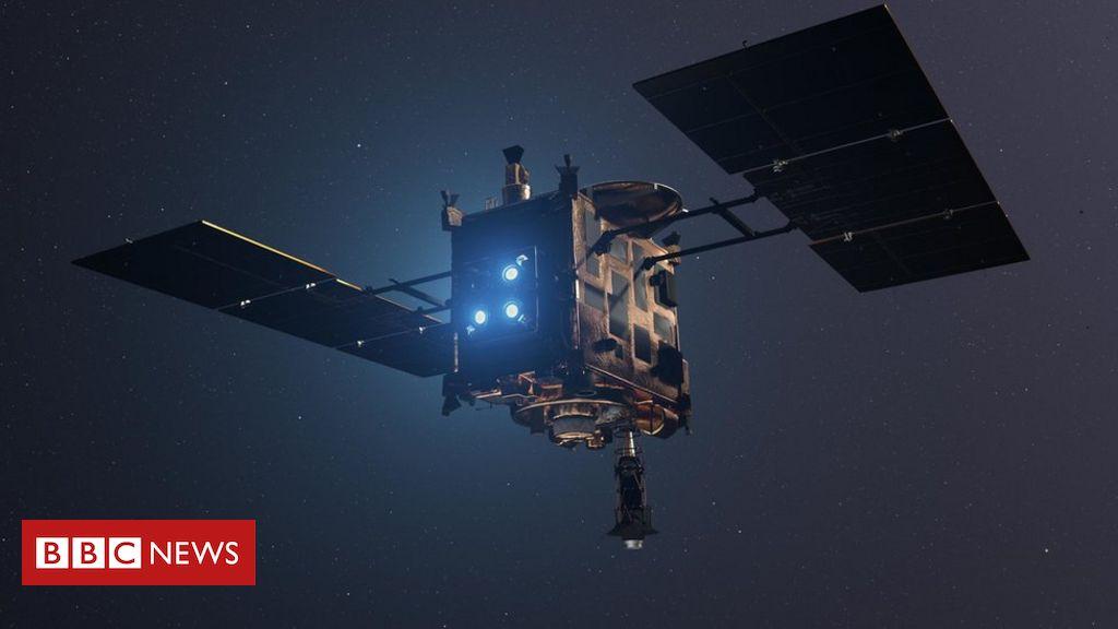Asteroid capsule landing point detected