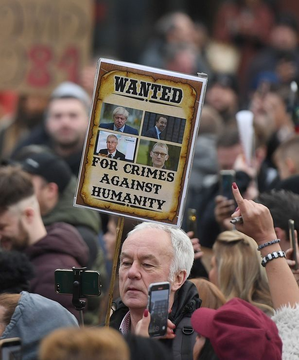 Hundreds at Covid anti-lockdown protest are 'sticking two fingers up' to those who died