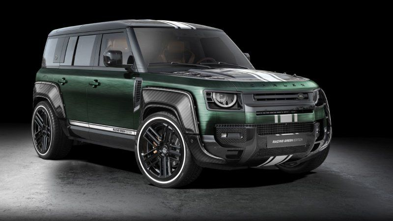 Carlex Design's Land Rover Defender is green, mean, but not very lean