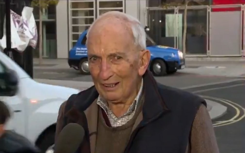 US news finds most stereotypical Englishman, 91, for interview about vaccine