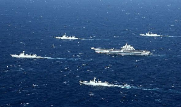 South China Sea FURY as Beijing holds LIVE-FIRE combat drills as US navy enters region
