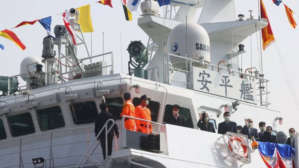 Taiwan commissions new coast guard ships to bolster defences