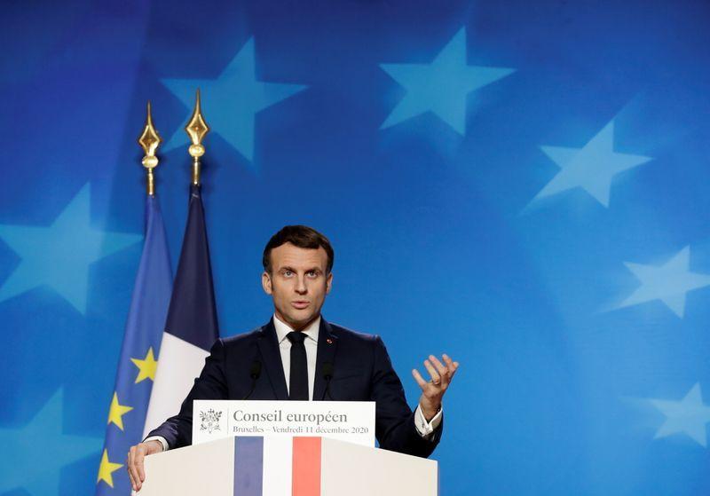 Macron says new EU sanctions against Turkish drilling show bloc's firmness