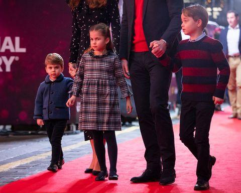 Prince George, Princess Charlotte, and Prince Louis Make a Festive Red Carpet Debut