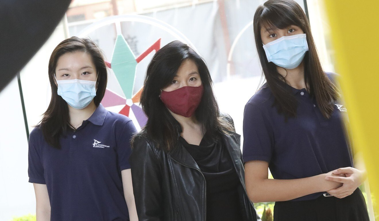 Students take to stage on 'White Christmas Express' to lift spirits of Hongkongers amid Covid-19 pandemic