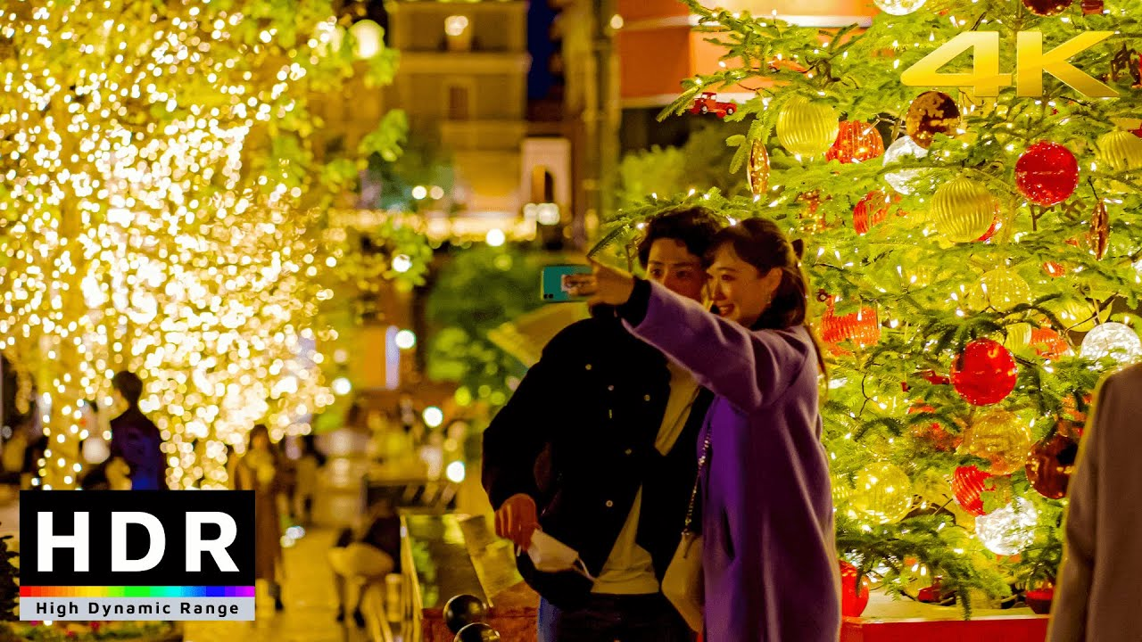 【4K HDR】Tokyo Christmas Lights - Ebisu Night Walk 2020