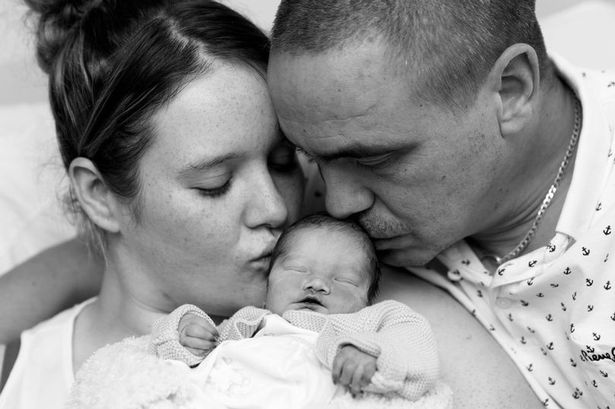 Mum describes 'eight hours of cuddles' before her baby died in husband's arms