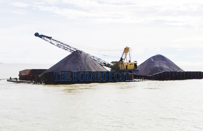 Tugboat and gravel-laden barge without port clearance pass intercepted by MMEA off Tg Jerijih