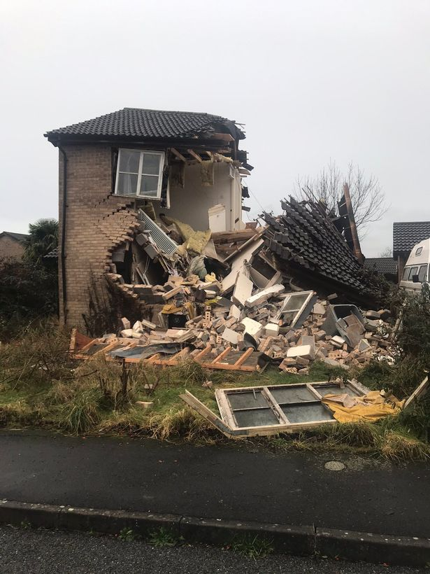 Gas explosion destroys entire house as emergency services rush to scene