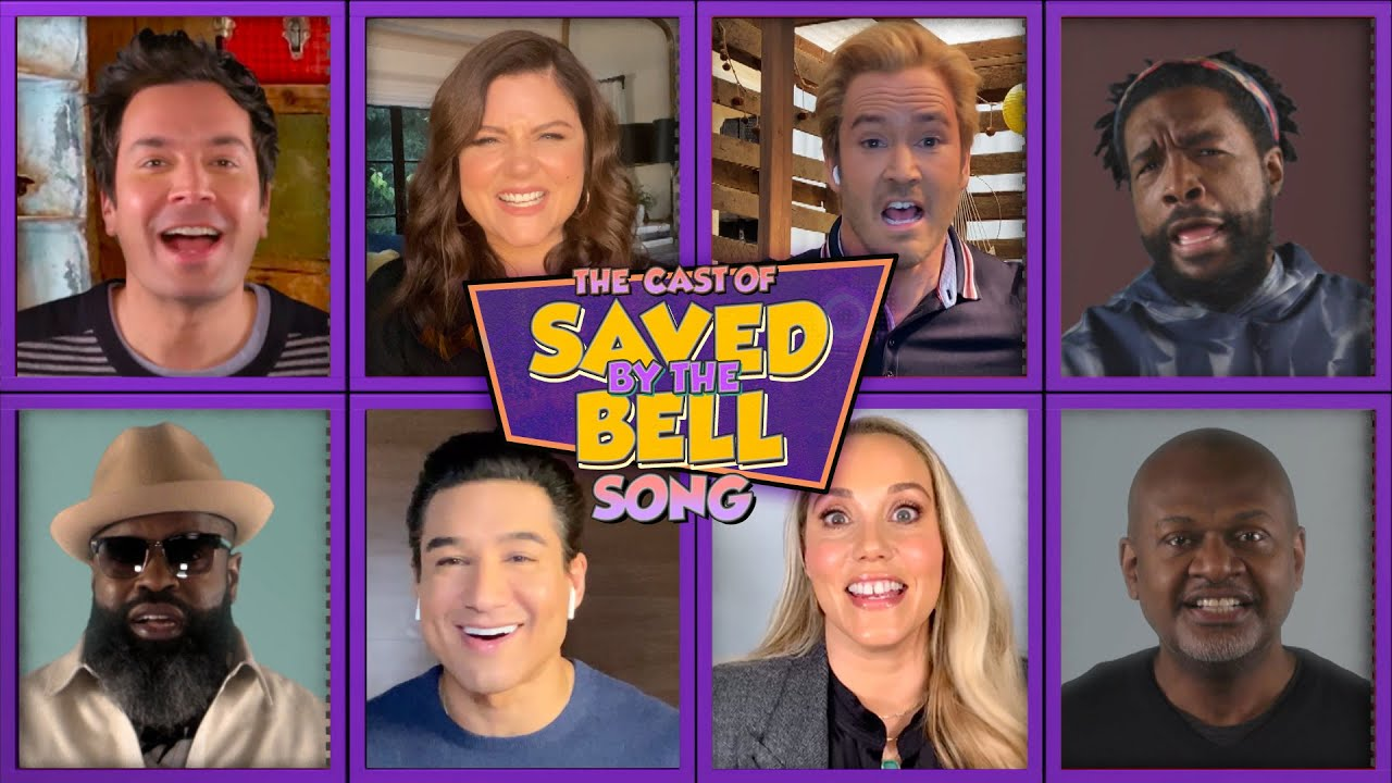 The Cast of Saved by the Bell, Jimmy & The Roots Remix the Show's Theme Song