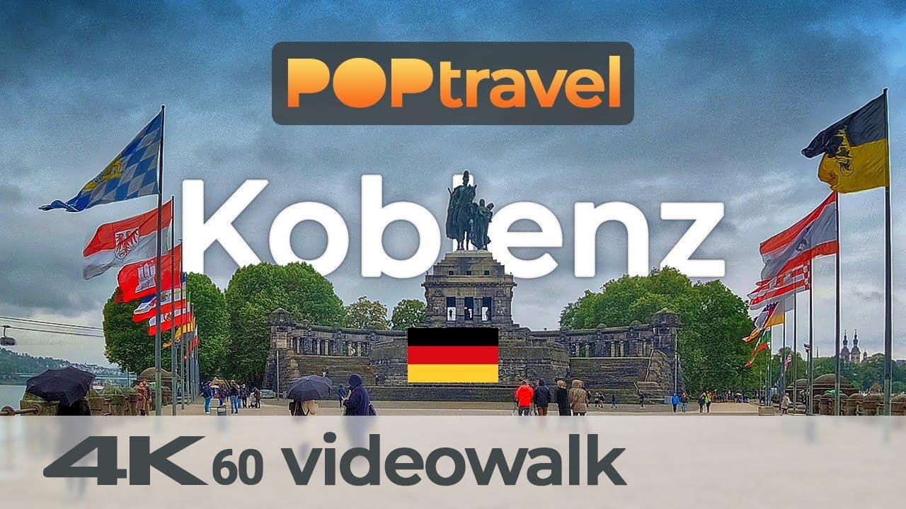 Walking in KOBLENZ / Germany 🇩🇪- Rainy Afternoon - 4K 60fps (UHD)
