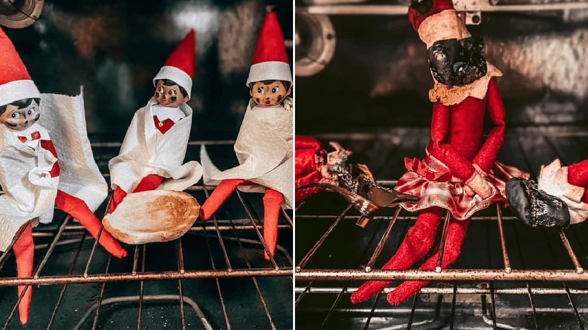 Dad incinerates family's elves on shelf after turning on oven where they were hiding