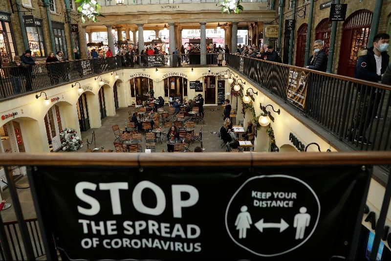 伦敦将防疫限制措施上调至最高