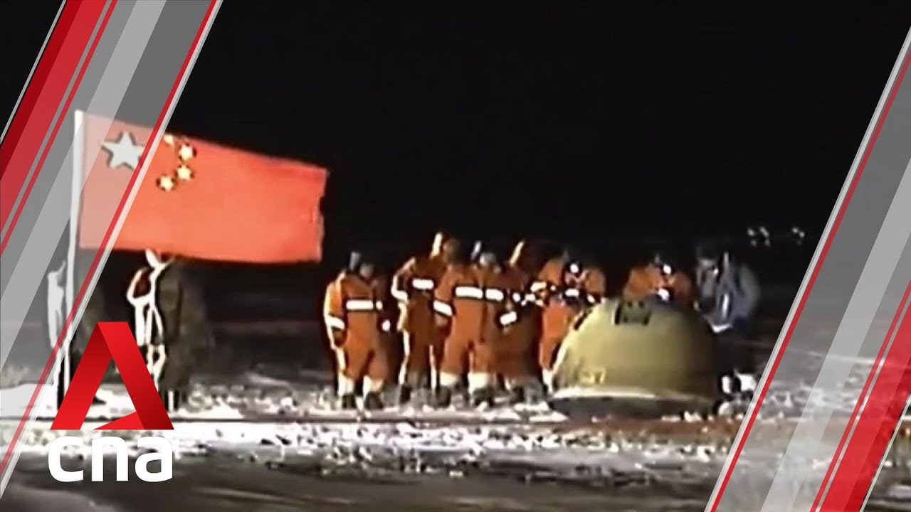 China's Chang'e 5 capsule returns to Earth carrying moon samples