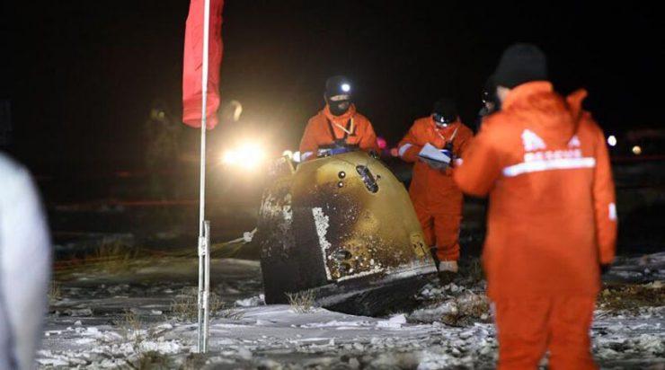 嫦娥五号携月球土壤样本返抵地球 内蒙古预定区域着陆