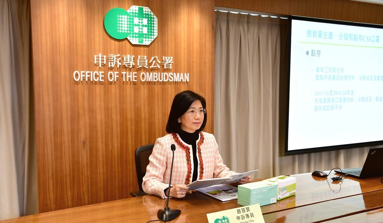 Coronavirus: Hong Kong's ombudsman calls for new guidelines on distribution and disposal of government-made face masks