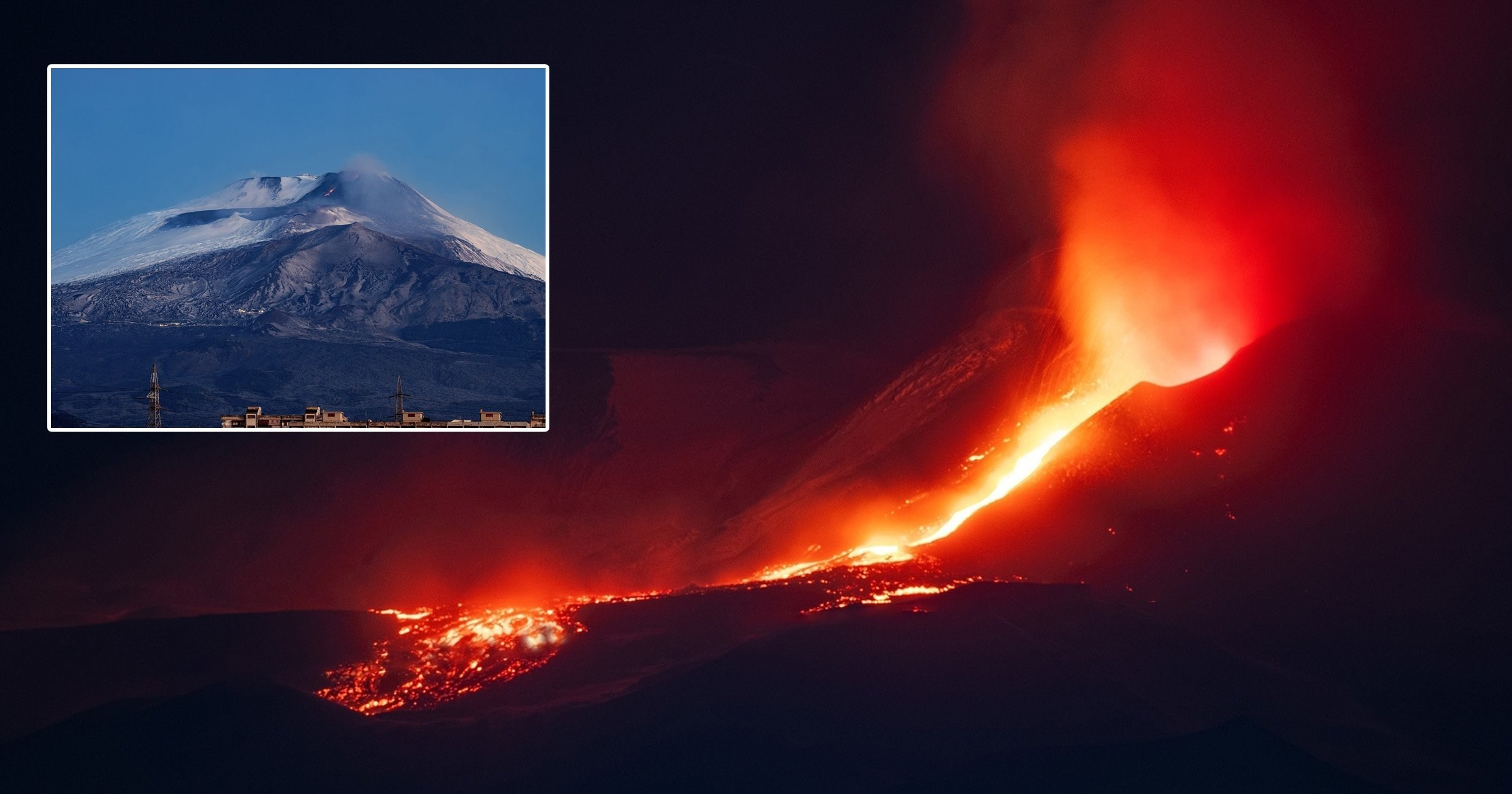 Mount Etna erupts spewing plumes of ash and lava into the sky