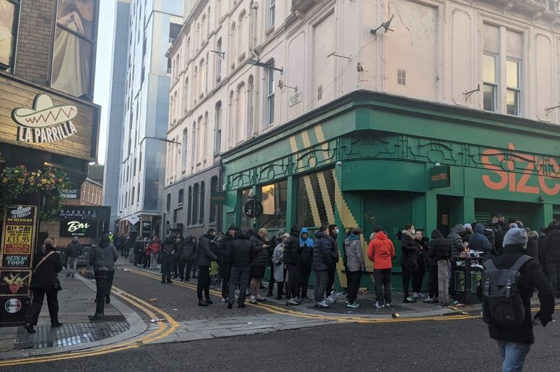 Police forced to break up crowds as hundreds queue for Nike '110s' Air Max 95 release