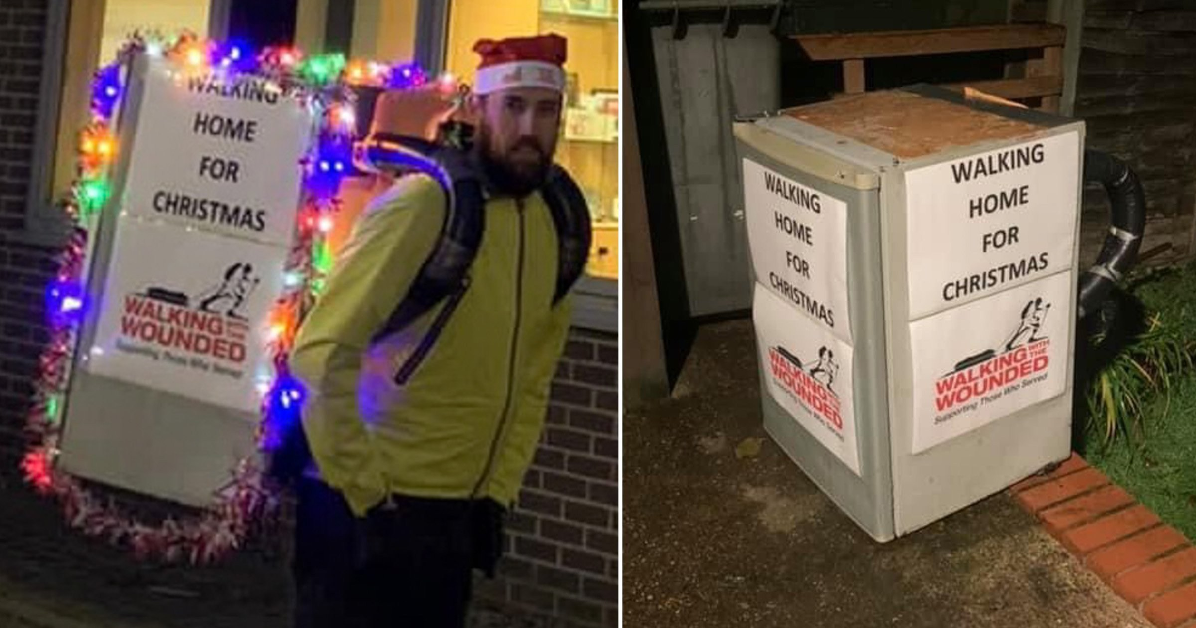 Dad walks nine miles every day to and from work with 15kg fridge on his back