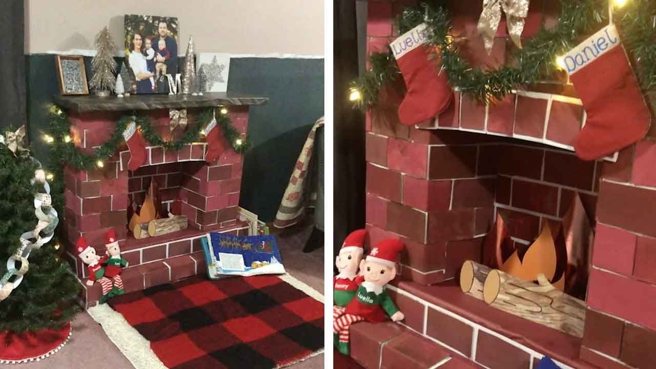 Creative Mum Builds Fireplace After Daughter Worries About Santa