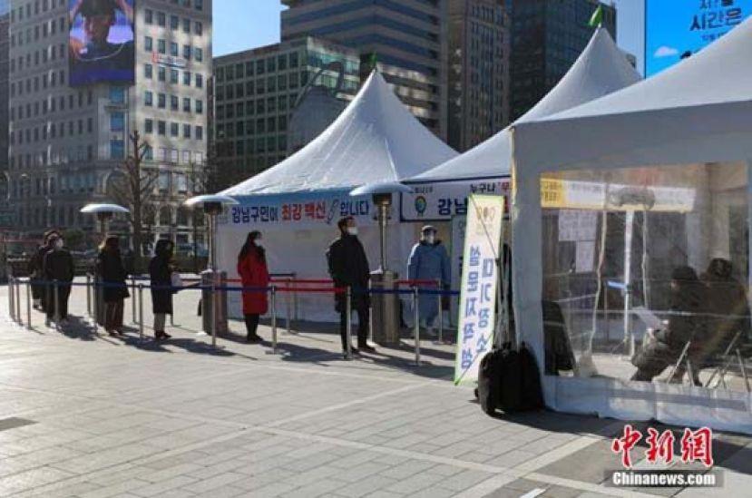 韩国单日确诊病例回升 现行防疫响应措施延长两周