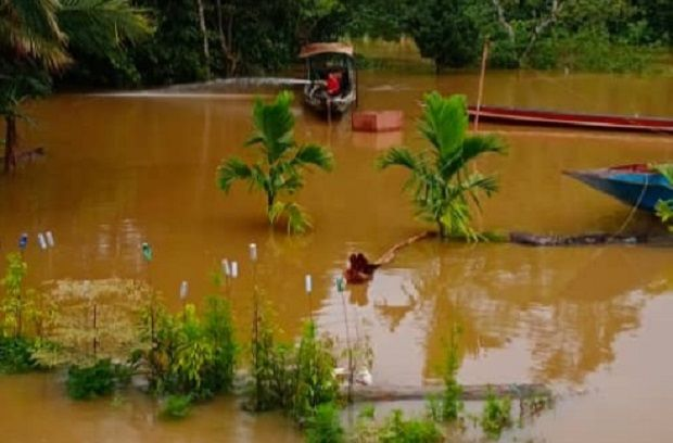 Mulu National Park in interior northern Sarawak cut off by floods