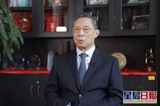 锺南山:新年春节中国沒必要禁止出行