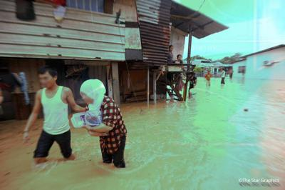 Floods hit seven districts in Johor, over 5,000 people evacuated