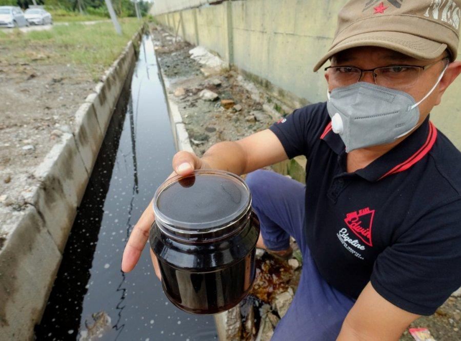将废料倒入河中 安顺油棕废料加工厂将受对付