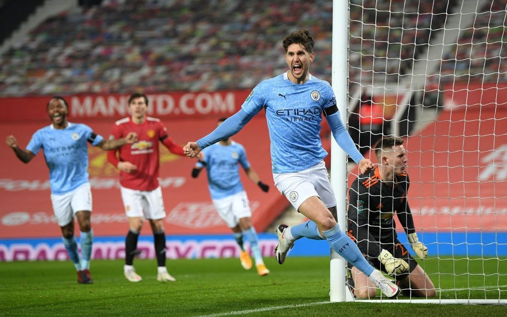 Manchester City set up Carabao Cup final clash with Spurs after thrilling win over Man Utd