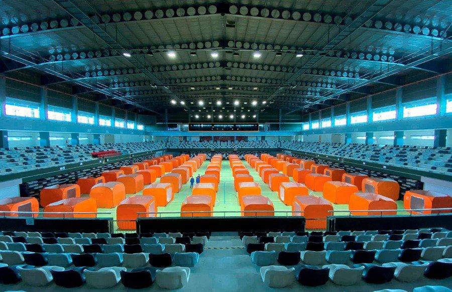 Now a red zone, Sibu turns indoor stadium into quarantine centre