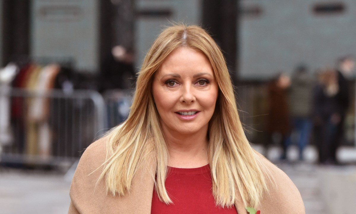 Carol Vorderman wows fans with skintight leather trousers in stunning throwback