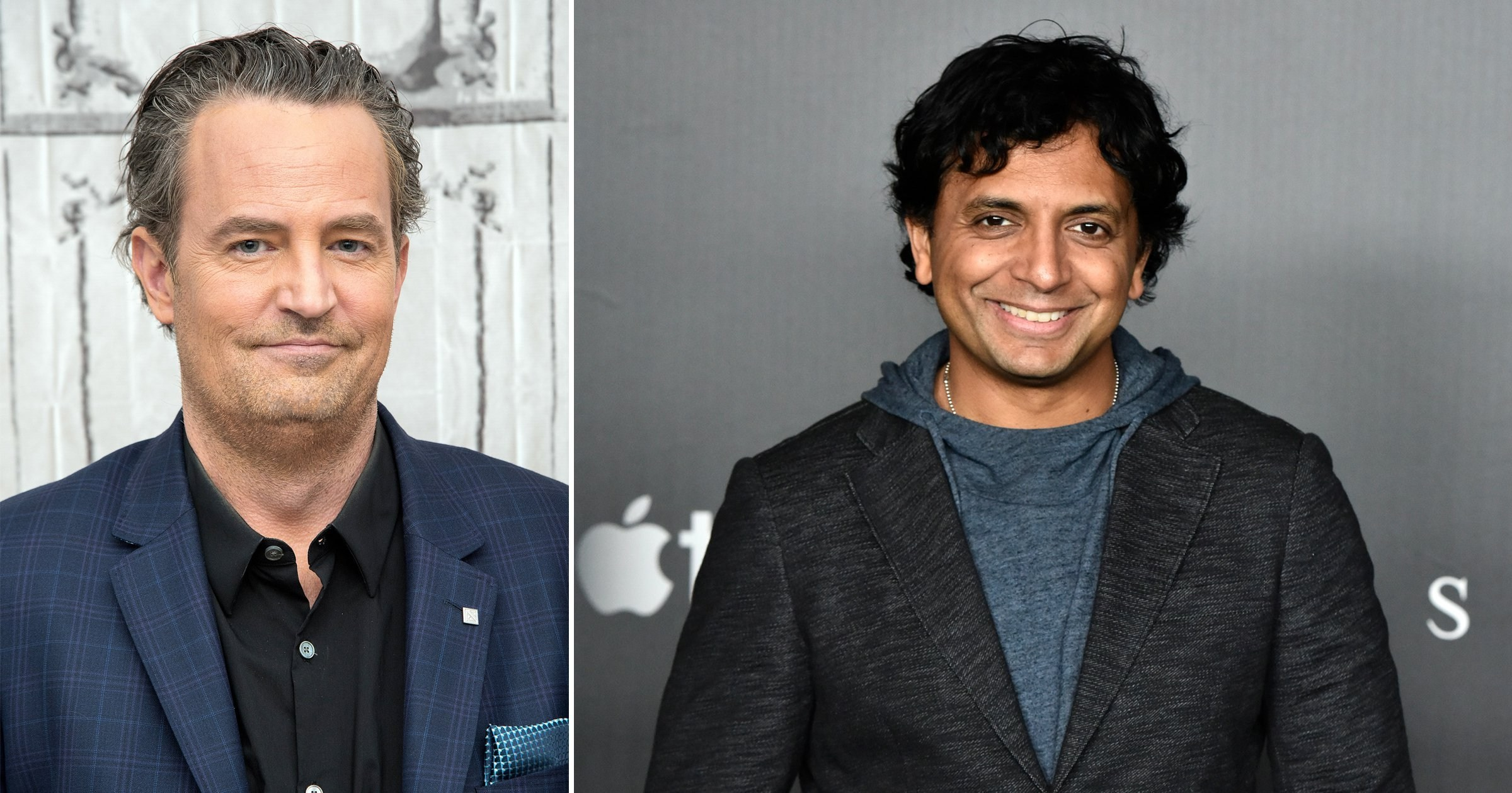 M Night Shyamalan reveals he and Matthew Perry actually *did* hang out despite Friends star's famous anecdote