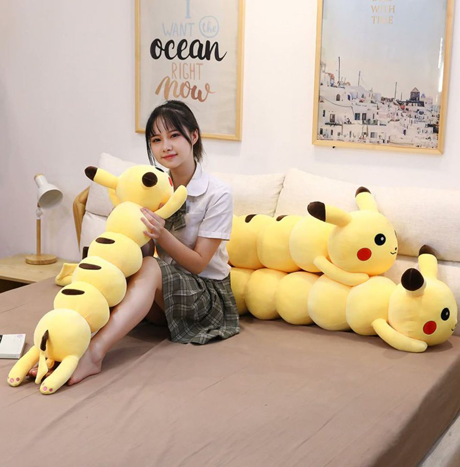 This pikachu centipede is a long body pillow that will help you get a good Night's sleep