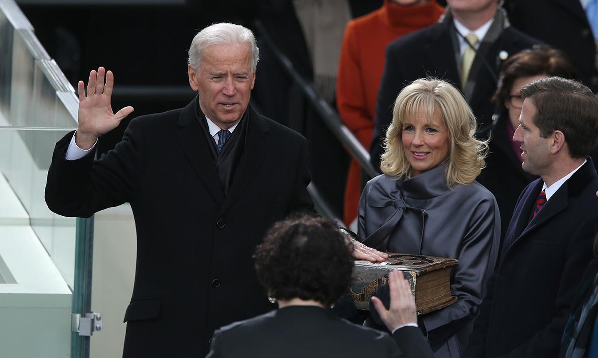 The poignant moment no-one saw at Joe Biden's inauguration