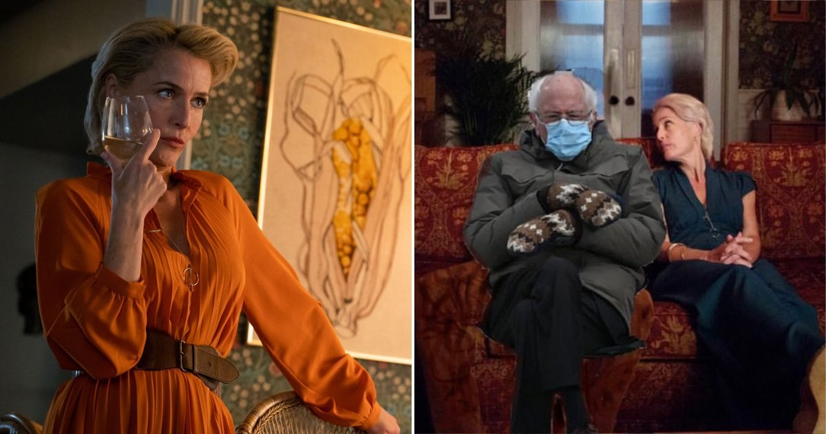 Gillian Anderson joins in Bernie Sanders meme with iconic Sex Education post